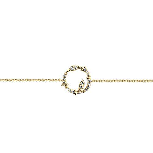 14k Yellow Gold Lusso Chain Bracelet angle 2