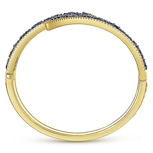 14k Yellow Gold Lusso Color Bangle angle 3