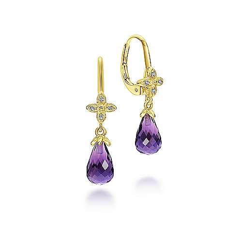 Gabriel - 14k Yellow Gold Lusso Color Drop Earrings