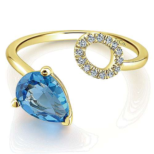 Gabriel - 14k Yellow Gold Lusso Color Fashion Ladies Ring