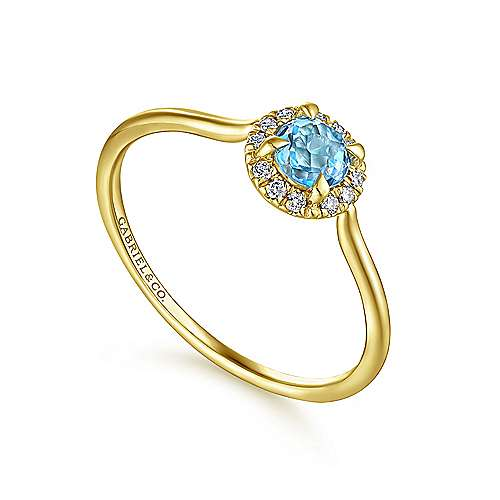14k Yellow Gold Lusso Color Fashion Ladies' Ring angle 3