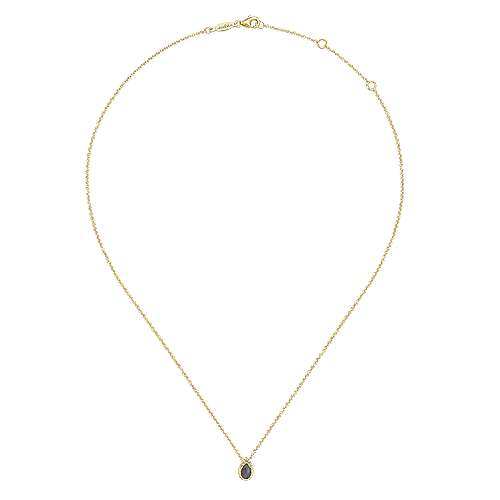 14k Yellow Gold Lusso Color Fashion Necklace angle 2
