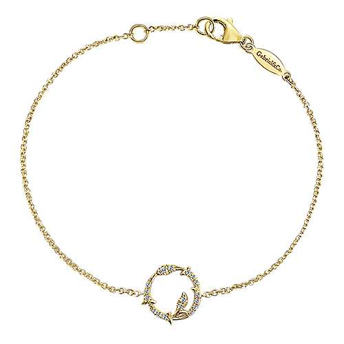 14k Yellow Gold Lusso Diamond Chain Bracelet angle 1