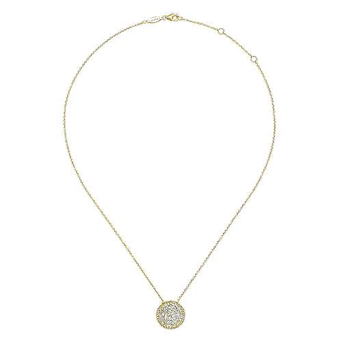 14k Yellow Gold Lusso Diamond Fashion Necklace angle 2