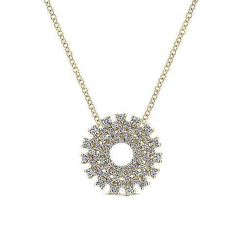 14k Yellow Gold Lusso Diamond Fashion Necklace angle 1