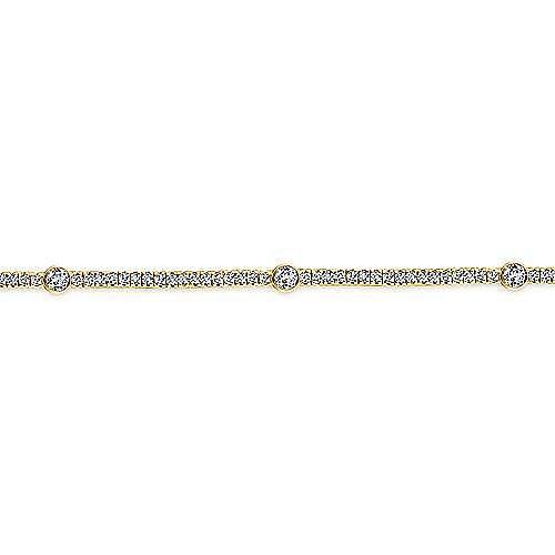 14k Yellow Gold Lusso Diamond Tennis Bracelet angle 2