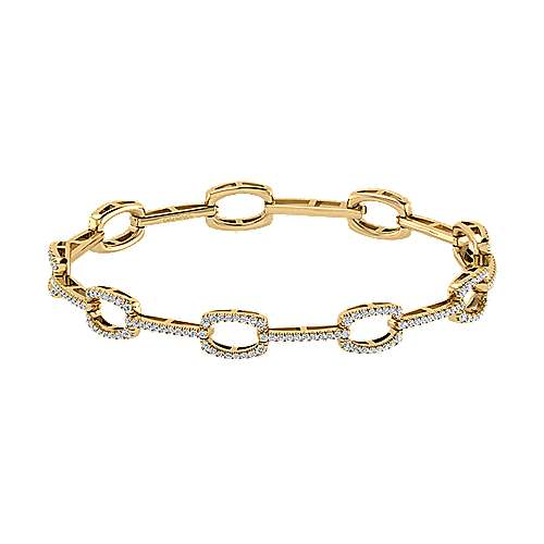 Gabriel - 14k Yellow Gold Lusso Diamond Tennis Bracelet