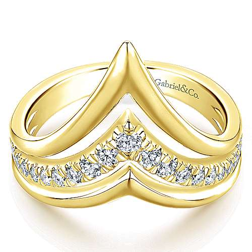 14k Yellow Gold Lusso Fashion Ladies' Ring angle 1