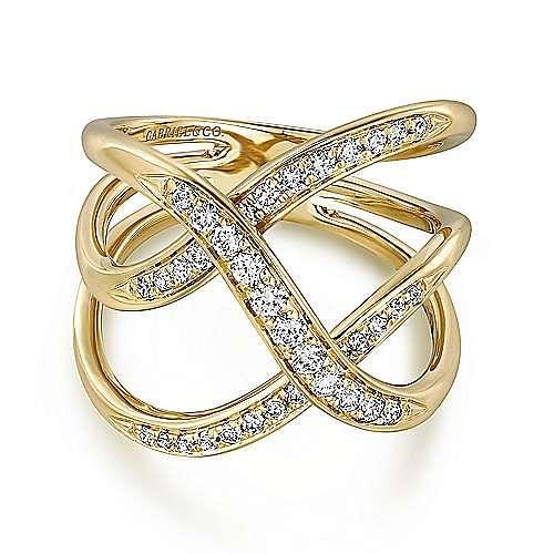 Gabriel - 14k Yellow Gold Lusso Fashion Ladies' Ring