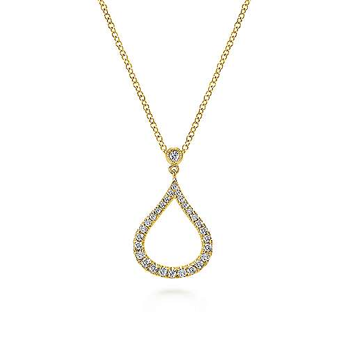 14k Yellow Gold Lusso Fashion Necklace angle 1