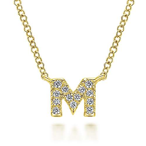 Gabriel - 14k Yellow Gold Lusso Initial Necklace