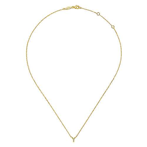 14k Yellow Gold Lusso Initial Necklace
