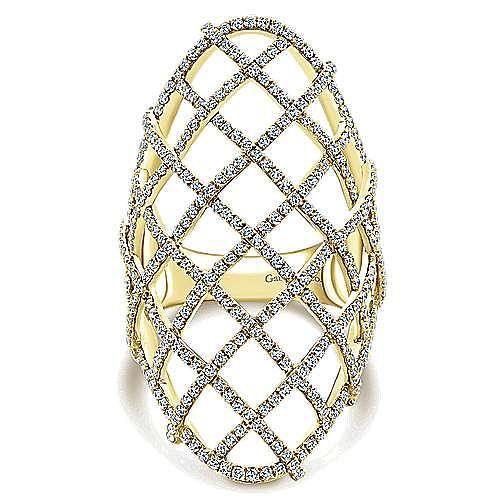 Gabriel - 14k Yellow Gold Lusso Statement Ladies' Ring