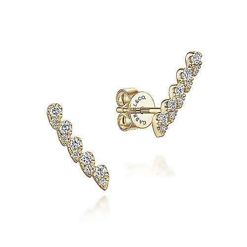 Gabriel - 14k Yellow Gold Lusso Stud Earrings
