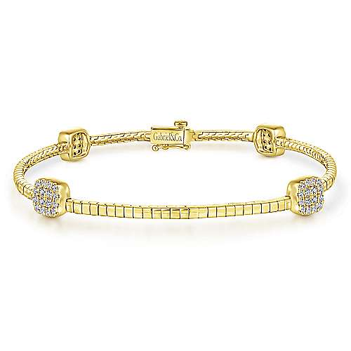 14k Yellow Gold Lusso Tennis Bracelet