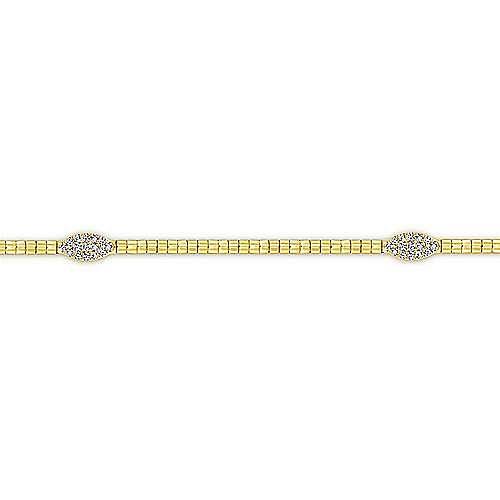 14k Yellow Gold Lusso Tennis Bracelet angle 2