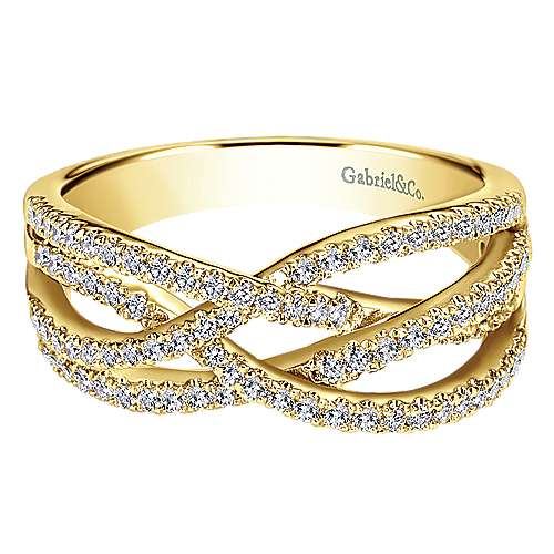 Gabriel - 14k Yellow Gold Lusso Twisted Ladies' Ring