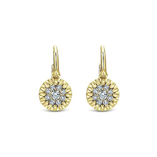 Gabriel - 14k Yellow Gold Messier Drop Earrings