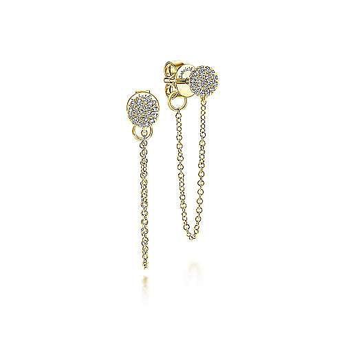 Gabriel - 14k Yellow Gold Messier Drop Earrings