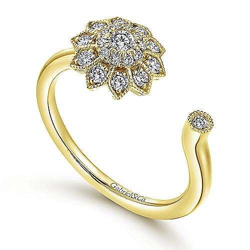 14k Yellow Gold Messier Fashion Ladies' Ring angle 3
