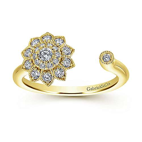 14k Yellow Gold Messier Fashion Ladies' Ring angle 4