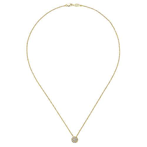 14k Yellow Gold Messier Fashion Necklace angle 2