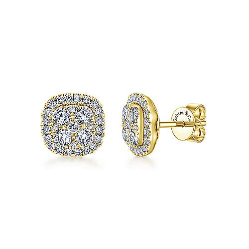 Gabriel - 14k Yellow Gold Messier Stud Earrings