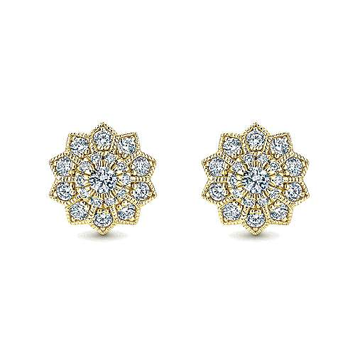 Gabriel - 14k Yellow Gold Messier Stud Earrings