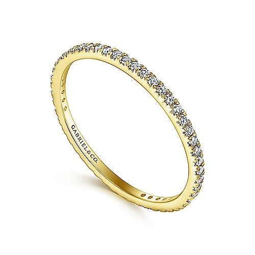 14k Yellow Gold Micro Pavé Set Eternity Band