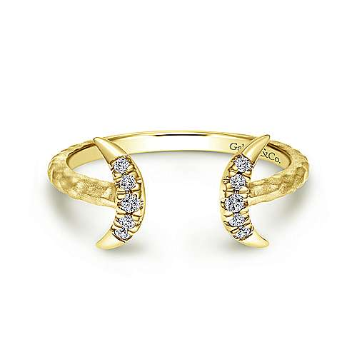 14k Yellow Gold Midi Ladies' Ring angle 1