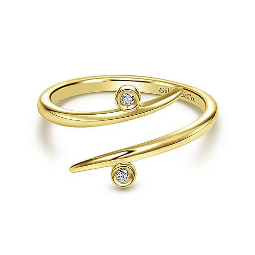 Gabriel - 14k Yellow Gold Midi Ladies' Ring