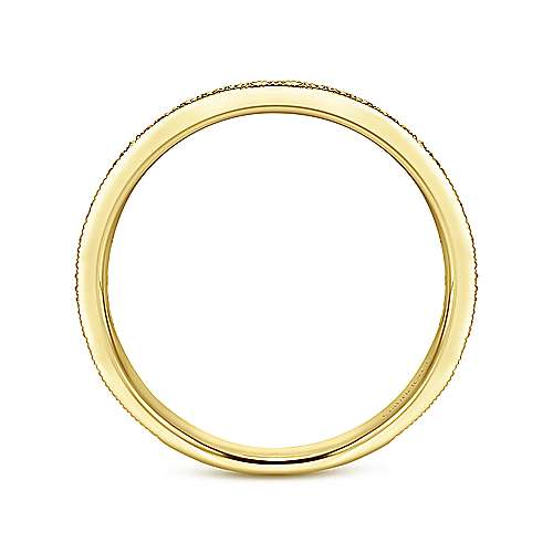 14k Yellow Gold Pavé Diamond Eternity Stackable Ring