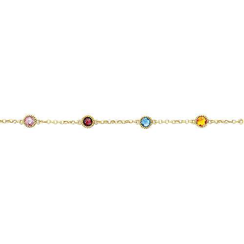14k Yellow Gold Secret Garden Chain Bracelet angle 2
