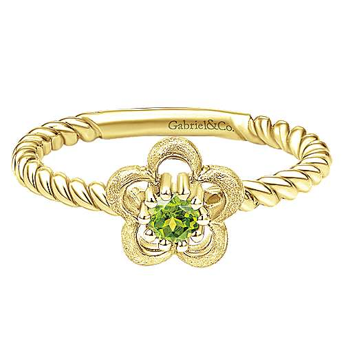 14k Yellow Gold Secret Garden Fashion Ladies' Ring angle 1
