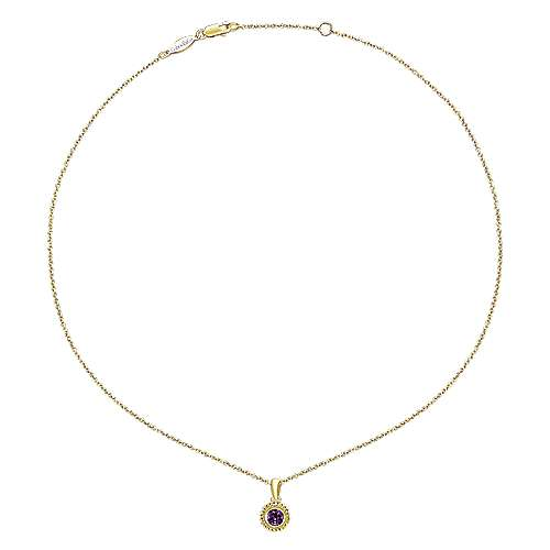 14k Yellow Gold Secret Garden Fashion Necklace angle 2