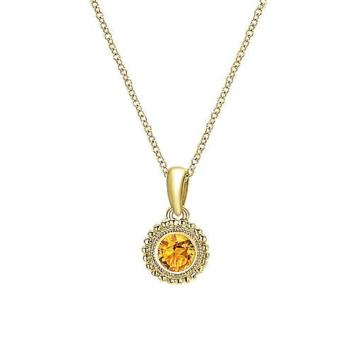 Gabriel - 14k Yellow Gold Secret Garden Fashion Necklace