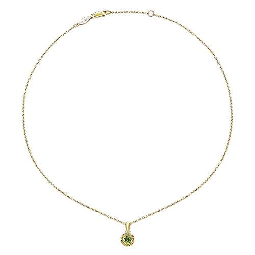 14k Yellow Gold Secret Garden Fashion Necklace