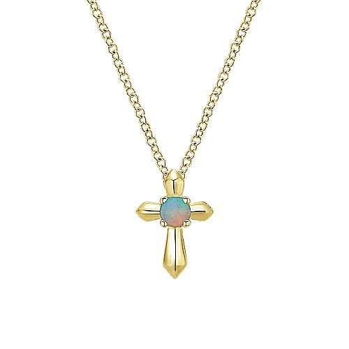 14k Yellow Gold Secret Garden Fashion Necklace angle 1