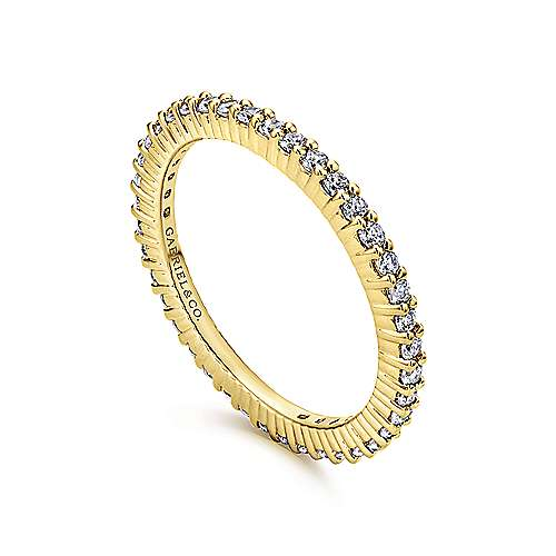 14k Yellow Gold Shared Prong Eternity Band