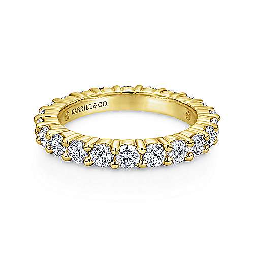 Gabriel - 14k Yellow Gold Shared Prong Eternity Band
