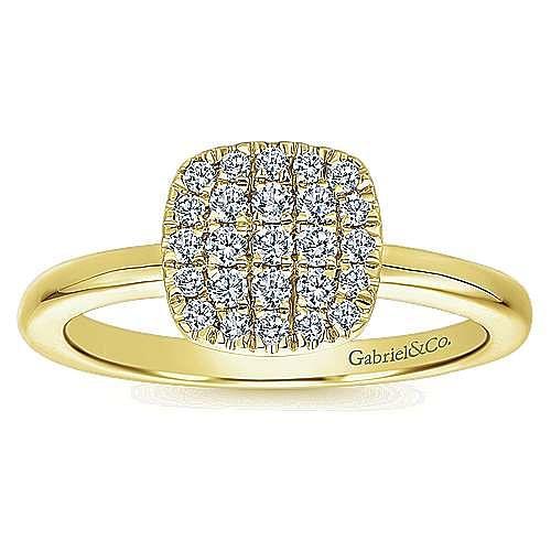 14k Yellow Gold Silk Classic Ladies' Ring angle 4