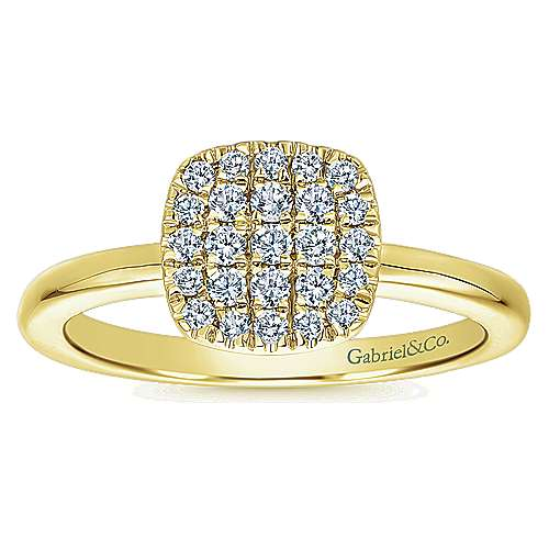 14k Yellow Gold Silk Classic Ladies' Ring angle 5