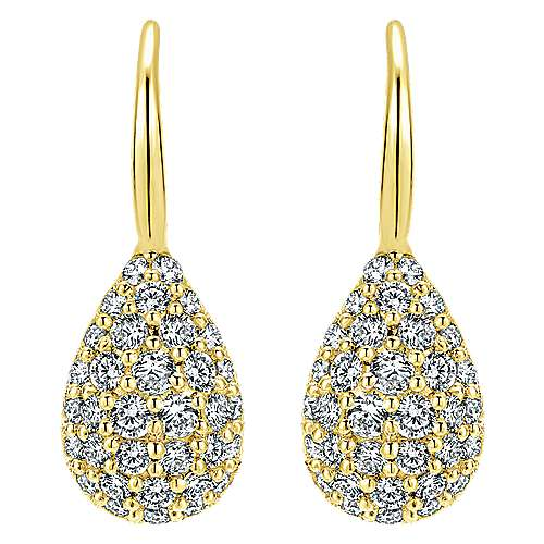 Gabriel - 14k Yellow Gold Silk Drop Earrings
