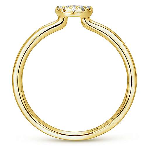 14k Yellow Gold Silk Fashion Ladies' Ring angle 2
