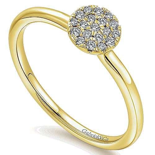 14k Yellow Gold Silk Fashion Ladies' Ring angle 3