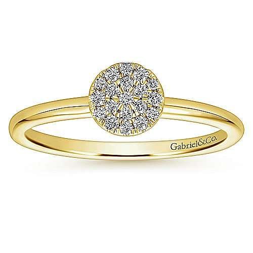 14k Yellow Gold Silk Fashion Ladies' Ring angle 4