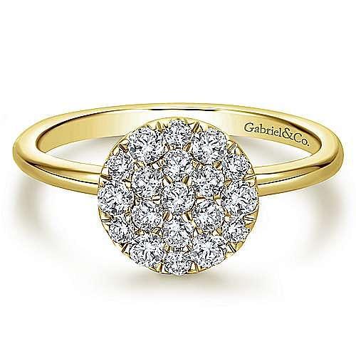 Gabriel - 14k Yellow Gold Silk Fashion Ladies' Ring