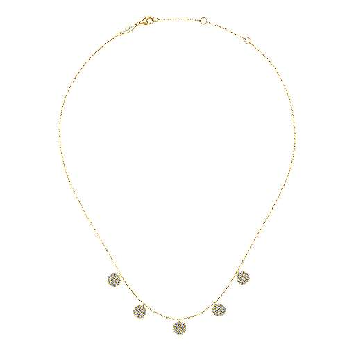 14k Yellow Gold Silk Fashion Necklace angle 2