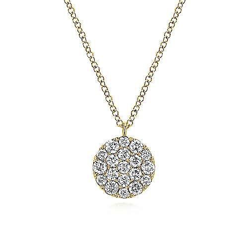 14k Yellow Gold Silk Fashion Necklace angle 1
