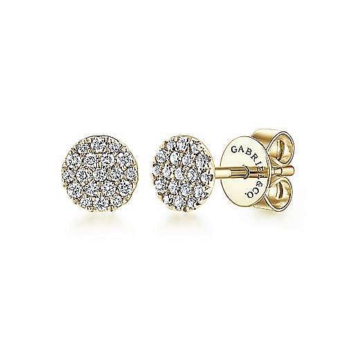 Gabriel - 14k Yellow Gold Silk Stud Earrings